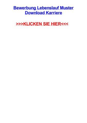 Bewerbung lebenslauf muster download karriere by bobbiohtgh - issuu