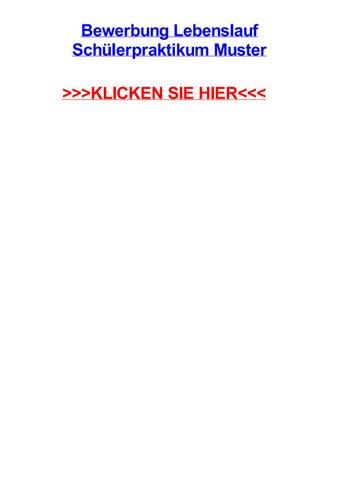 bewerbung lebenslauf schlerpraktikum muster rotz projektarbeit beispiel berlin - Lebenslauf Schlerpraktikum Vorlage