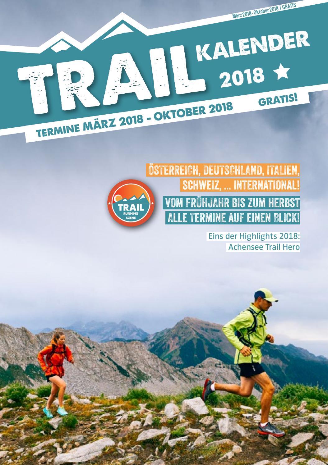 Trail Kalender 2018 by Trailrunning Szene issuu