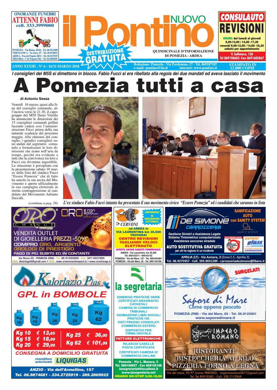 35c31f4c25 Il Pontino Nuovo - Anno XXXIII - N. 6 - 16/31 Marzo 2018 by Il Pontino/Il  Litorale - issuu