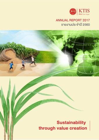 KTIS: Annual Report 2017 EN by Kaset Thai International Sugar