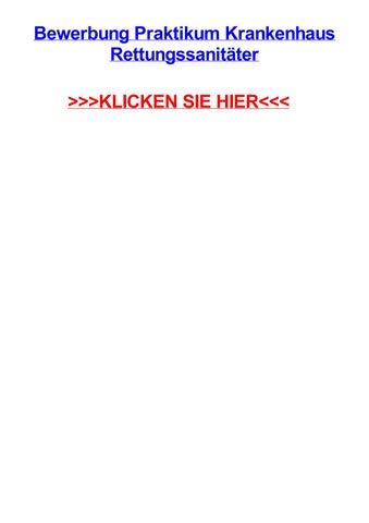 bewerbung praktikum krankenhaus rettungssanitter rostock mecklenburg vorpommernhansestadt - Bewerbung Rettungssanitater