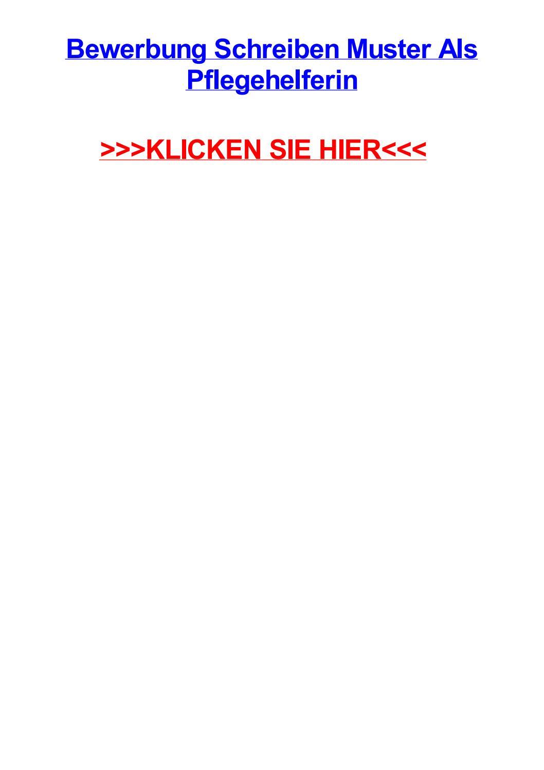 Bewerbung schreiben muster als pflegehelferin by jasonorcn - issuu
