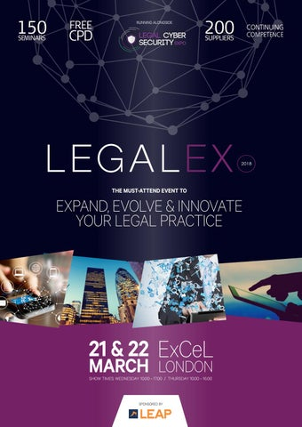 Legalex & Legal Cyber Security Expo 2018 Showguide by Prysm
