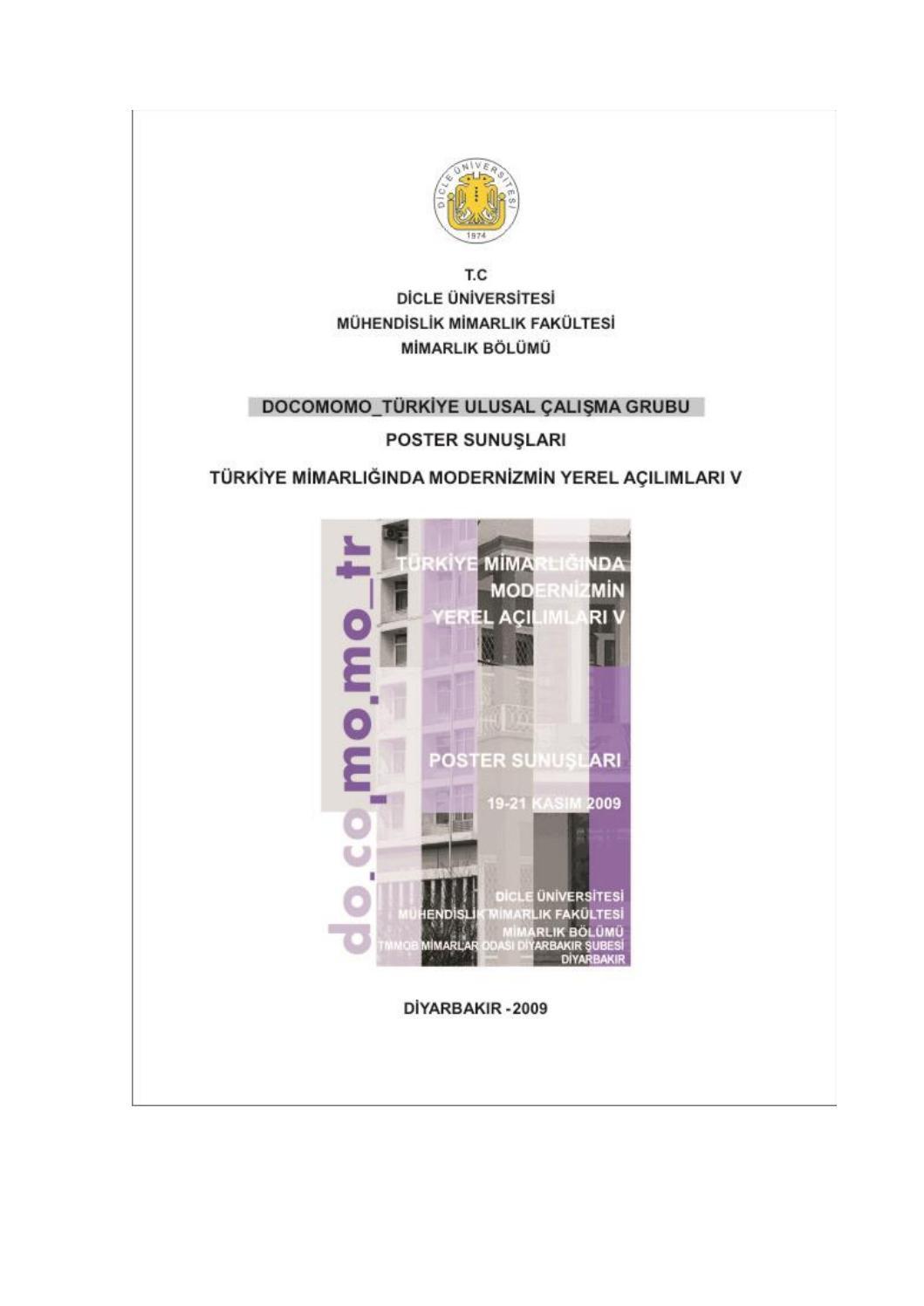 2009 Turkiye Mimarliginda Modernizmin Yerel Acilimlari V By