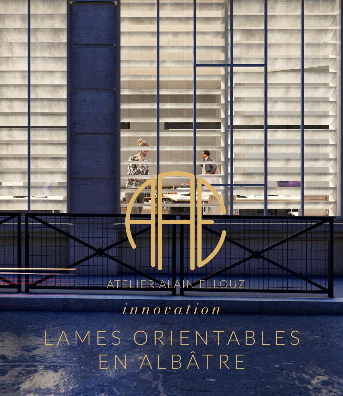 Lames Orientables En Albâtre By Atelier Alain Ellouz