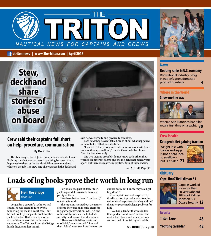 Triton April 2018 Vol. 15, No. 1