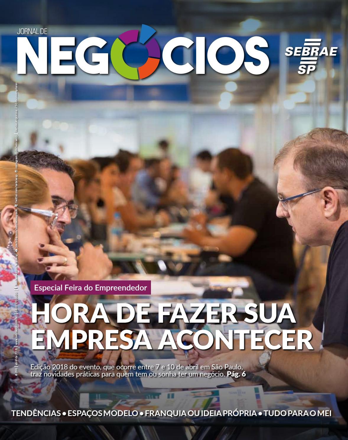 795dd681aafcd Jornal de Negócios - 01 de Abril 2018 by Sebrae-SP - issuu