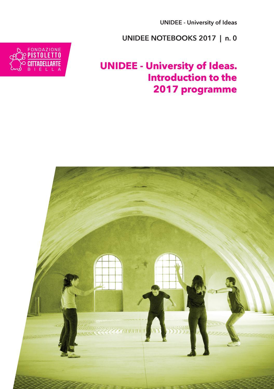 Unidee Notebooks 2017 N 0 By Cittadellarte Fondazione