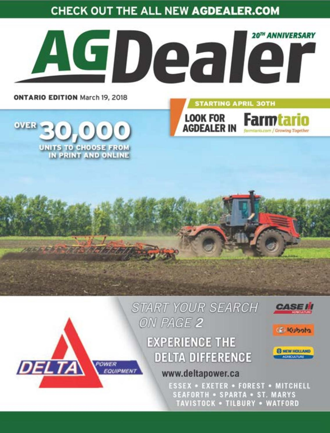 AGDealer ALL Ontario Edition, March 19, 2018 by Farm