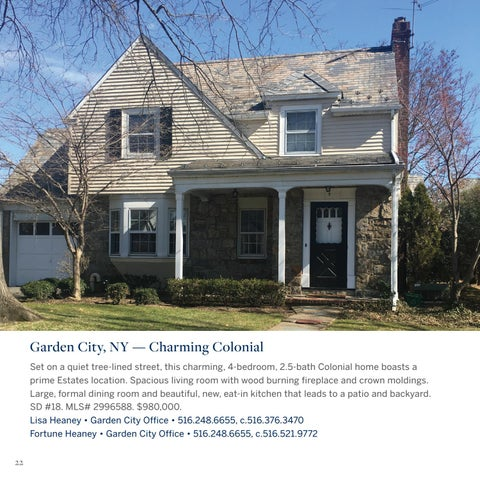 Garden City, NY U2014 Charming Colonial Set On A Quiet Tree Lined Street, This  Charming, 4 Bedroom, 2.5 Bath Colonial Home Boasts A Prime Estates Location.