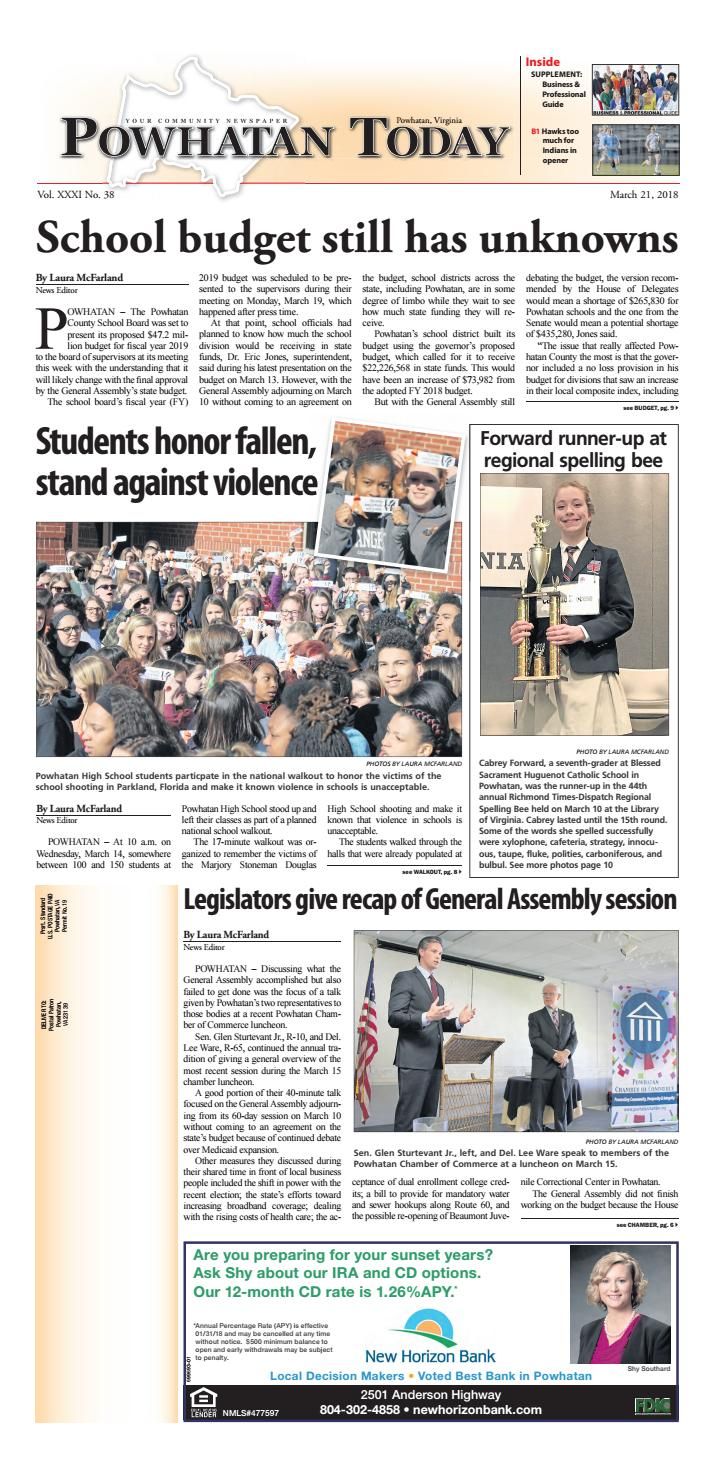 03/21/2018 by Powhatan Today - issuu