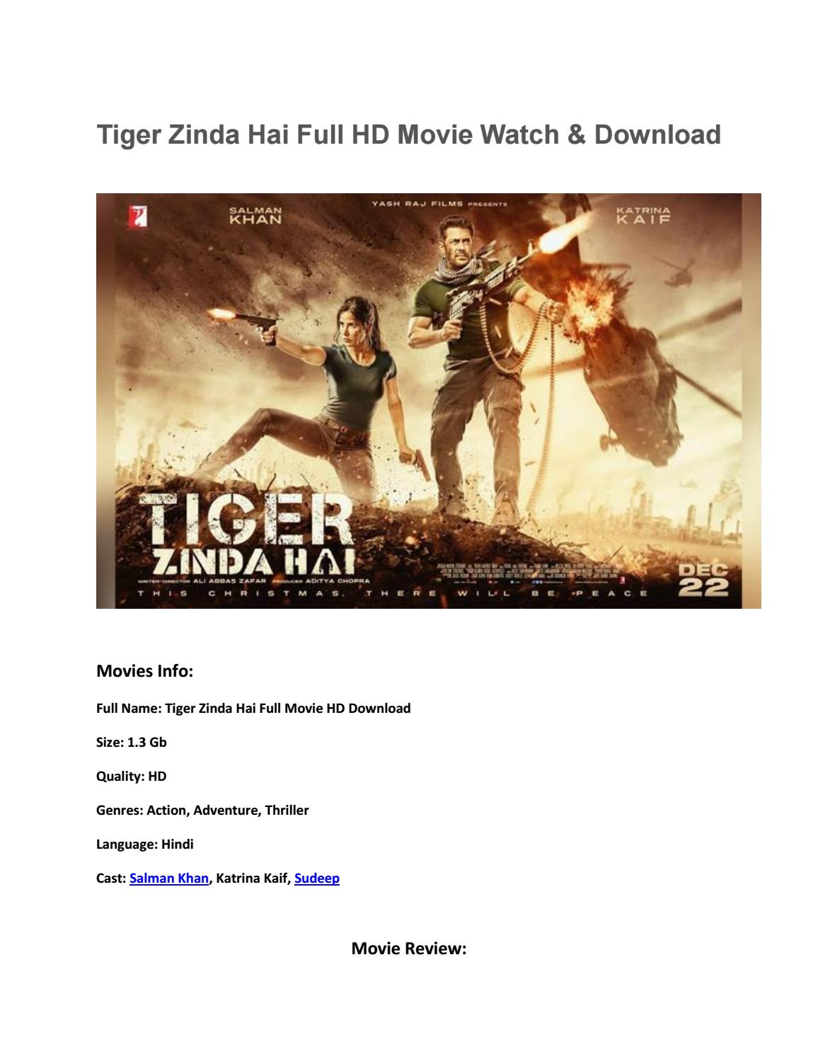 Tiger Zinda Hai Full Movie Hd Download Output By Anjaankhan Ak225