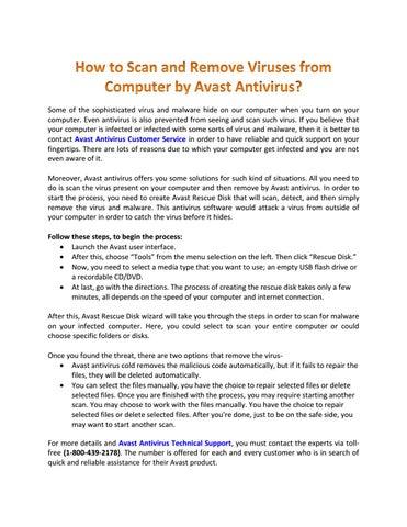 avast antivirus remove virus