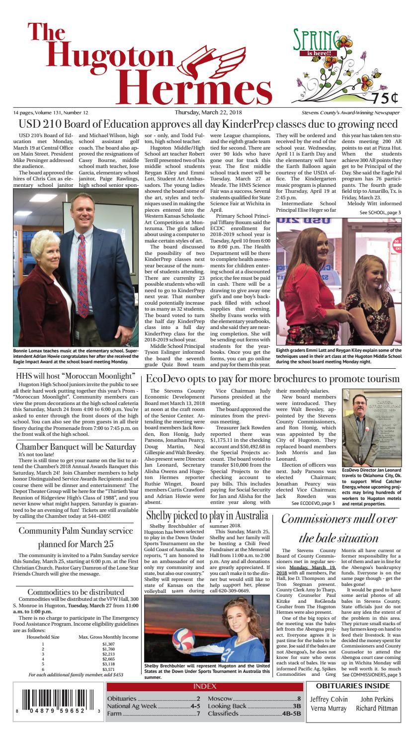 March 22, 2018 by Hugoton Hermes - issuu on