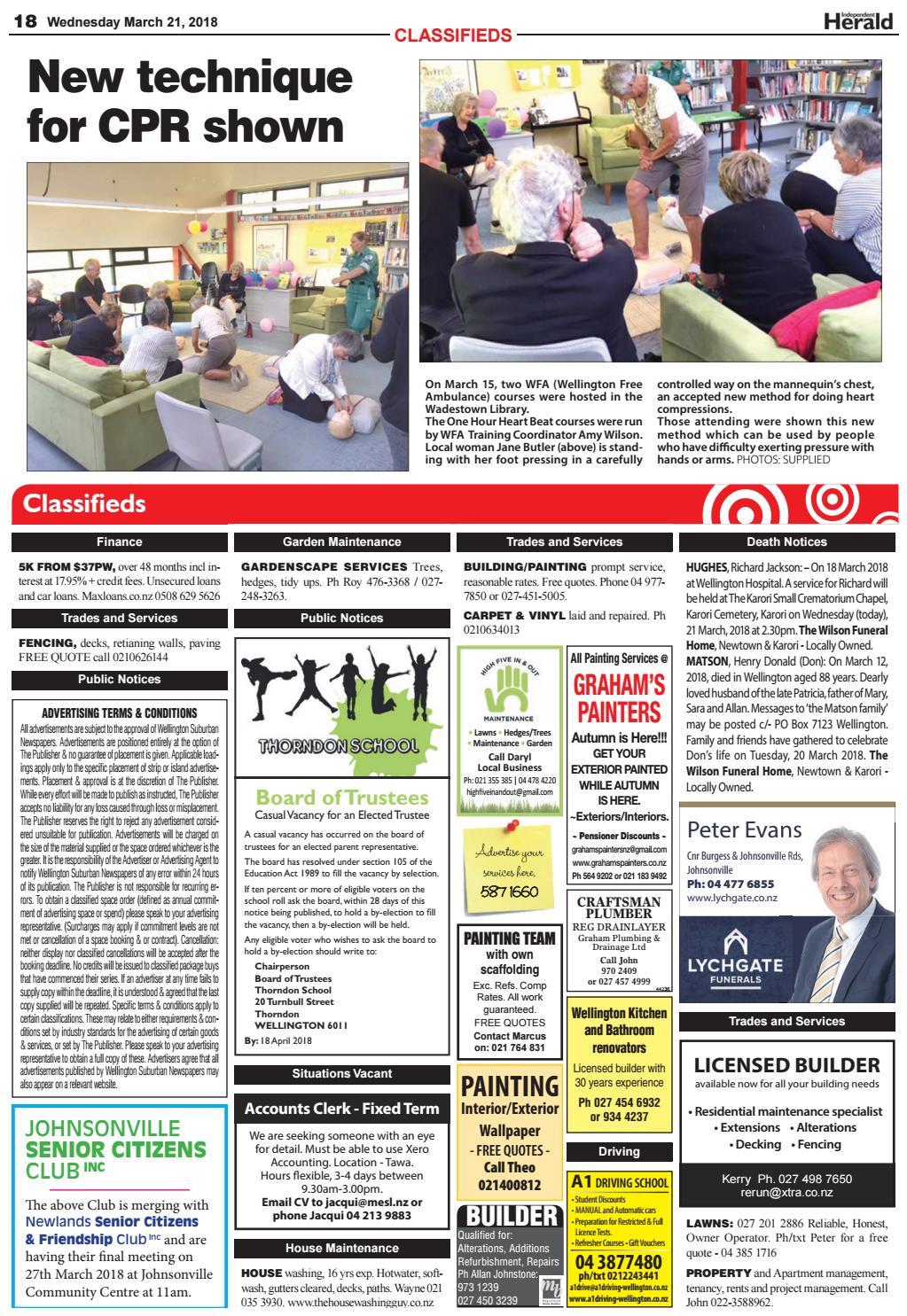 Wellington newspaper classifieds