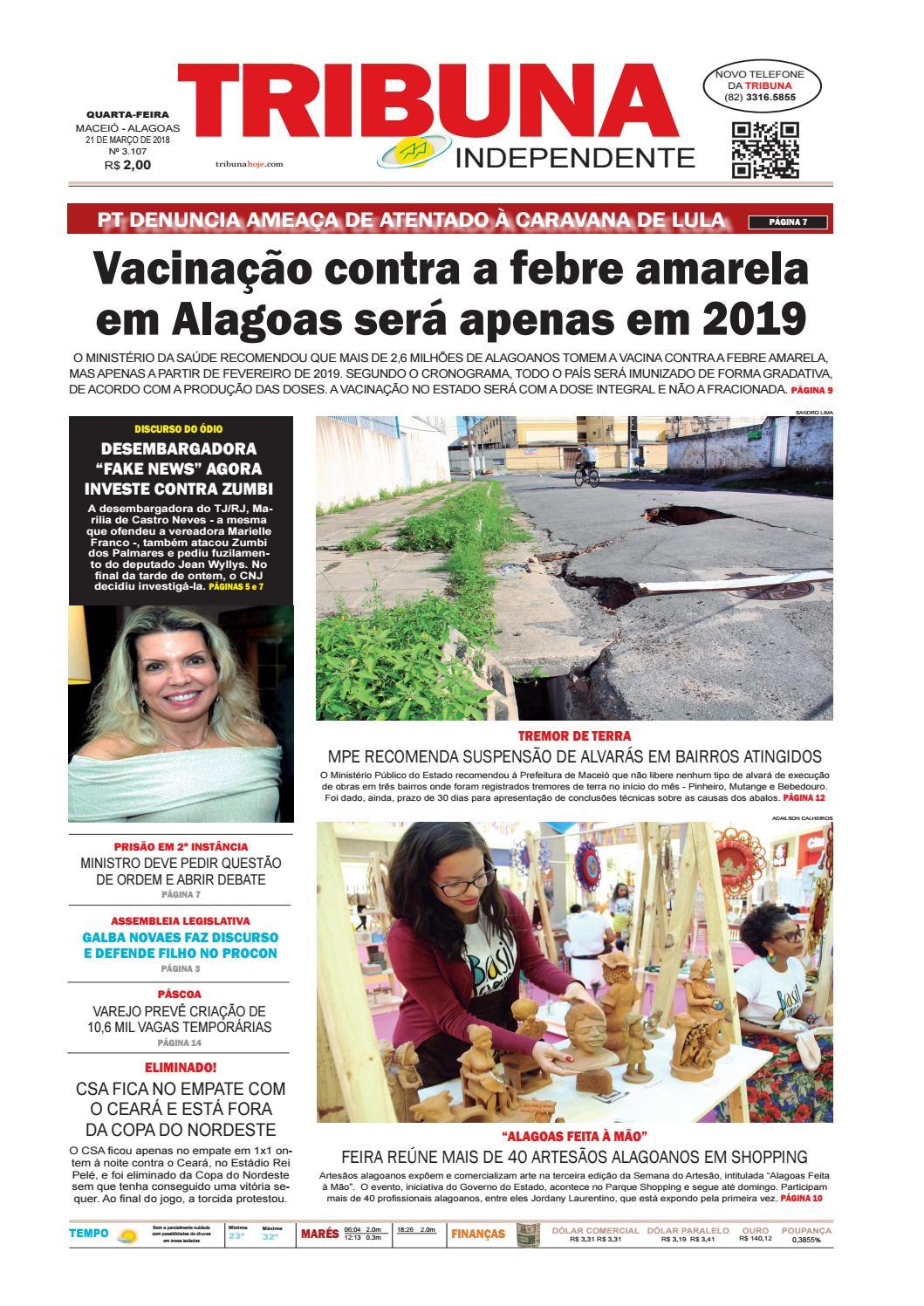 Edição número 3107 - 21 de março de 2018 by Tribuna Hoje - issuu a68832132be1e