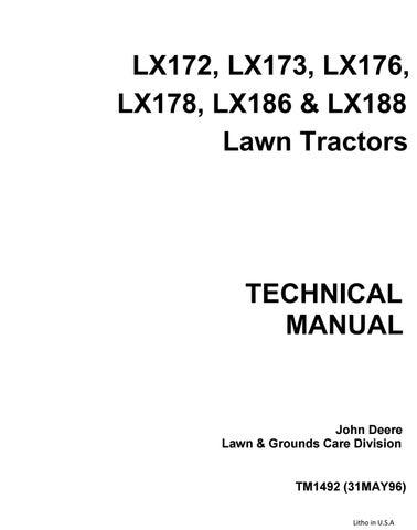 John Deere Lx173 Lawn Garden Tractor Service Repair Manual By 163294 Issuu