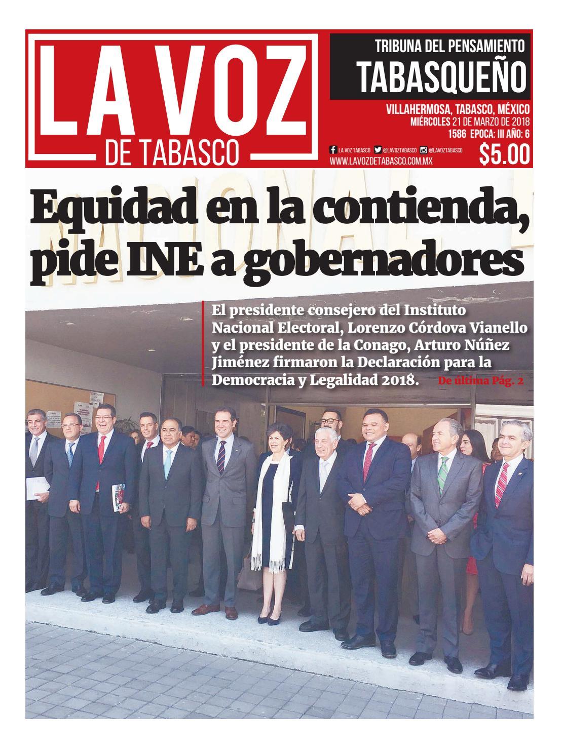 La Voz De Tabasco Miércoles 21 De Marzo De 2018 By Grupo