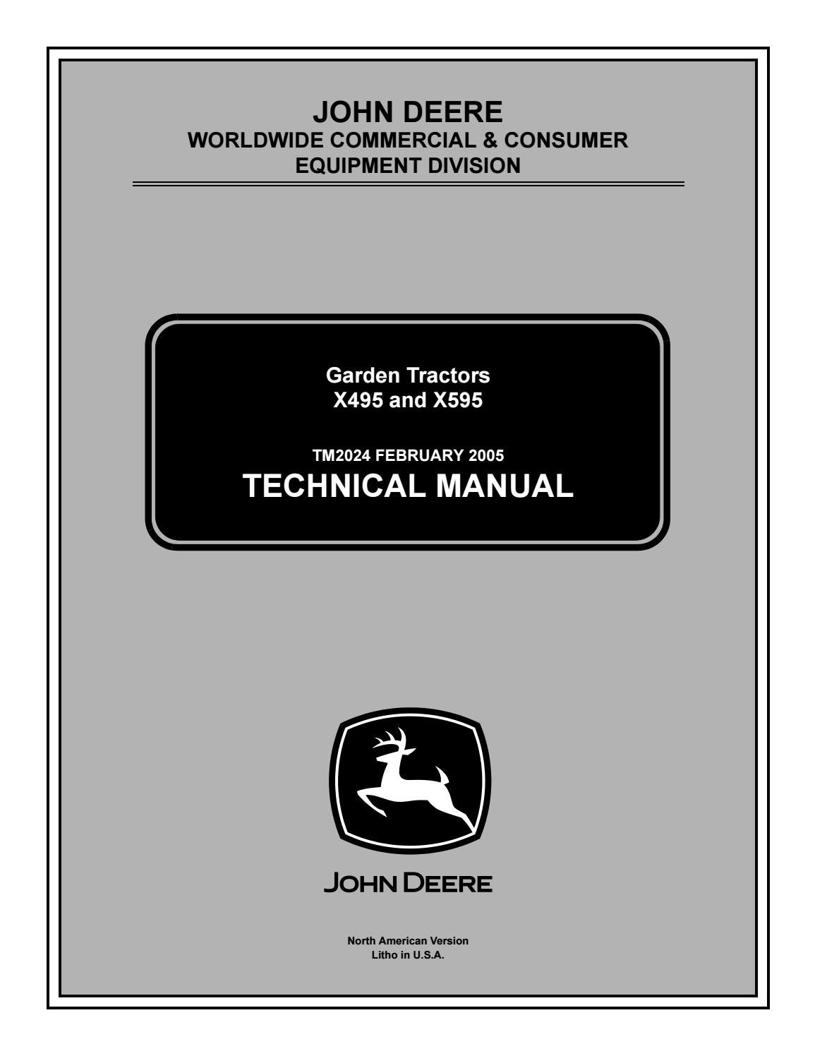 [DIAGRAM_4FR]  John deere x495 4wd lawn & garden tractor service repair manual by 163294 -  issuu | John Deere X495 Wiring Diagram |  | Issuu