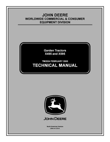 John deere x495 4wd lawn & garden tractor service repair manual by 163294 -  issuu | X495 Pto Wiring Diagram |  | Issuu