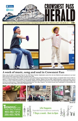 Crowsnest Pass Herald by crowsnestpassherald - issuu