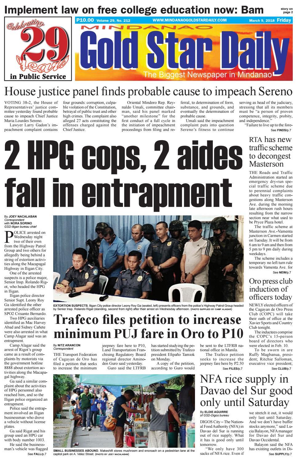 Mgsd 3-9-18 by Mindanao Gold Star Daily - issuu