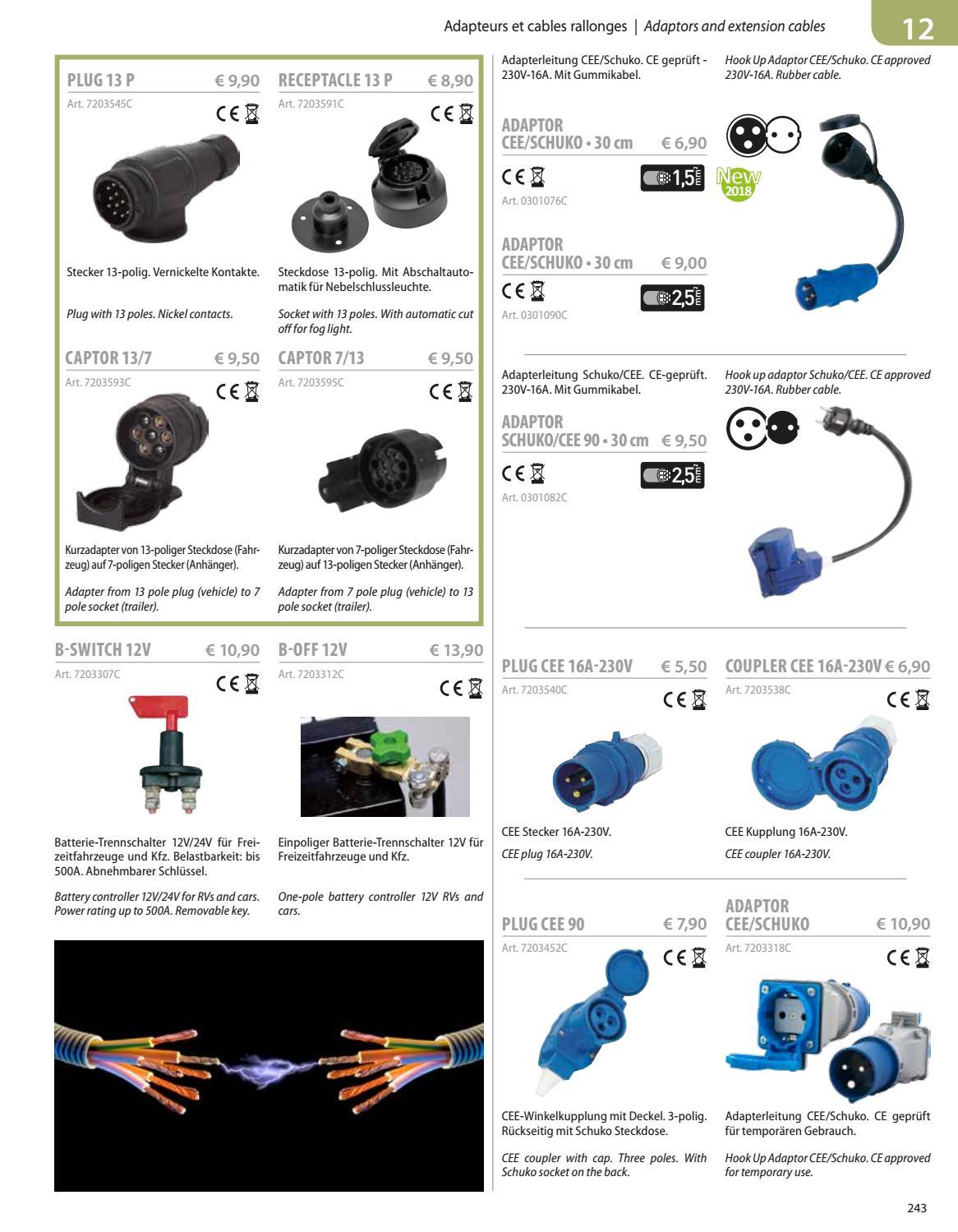Adapterleitung Brunner CEE//CEE-Winkelkupplung