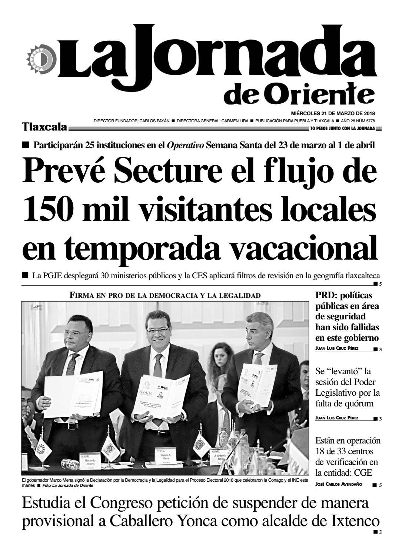5778 La Jornada De Oriente Tlaxcala 21 03 18 By La Jornada De  # Muebles Badillo Montiel