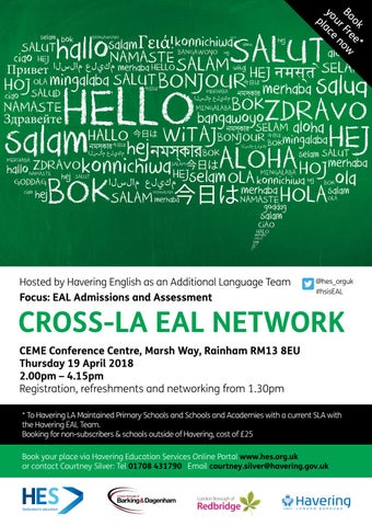 Havering English As An Additional Language Team Eal Conference Flyer