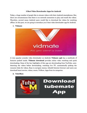 best video downloader app