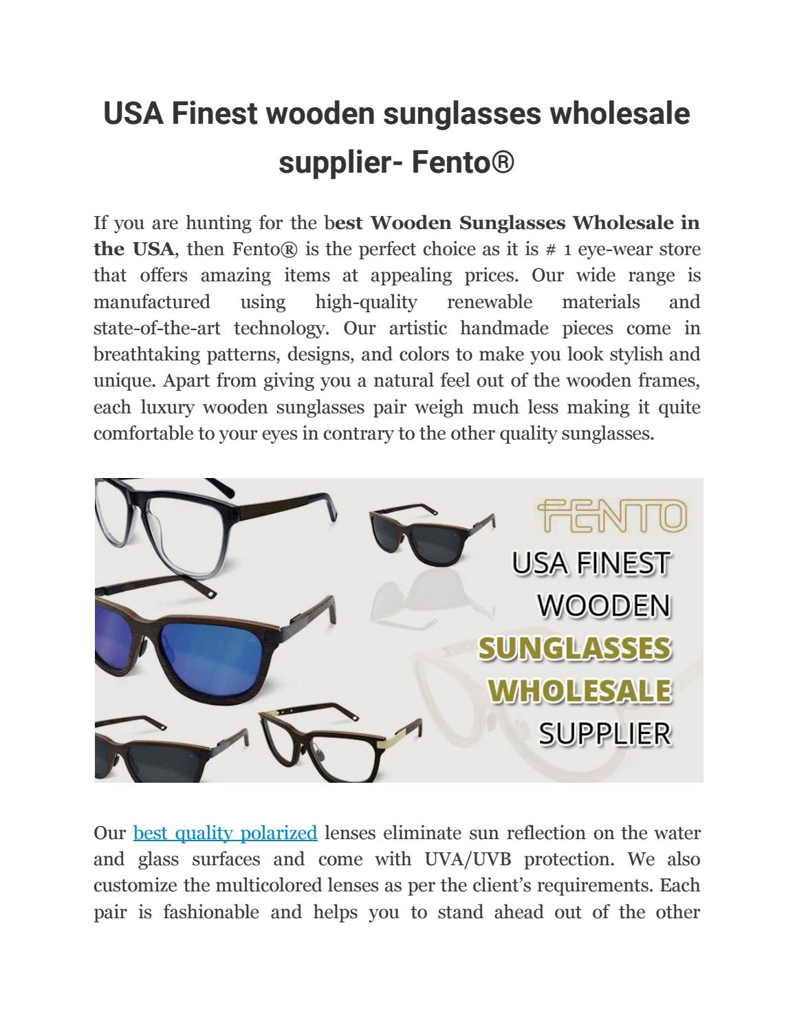 d920c4da02 Usa finest wooden sunglasses wholesale supplier fento® by fentoshop - issuu