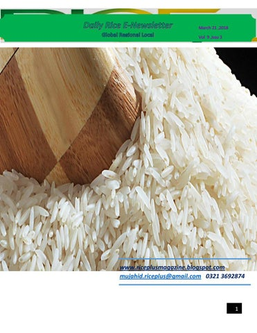 21st march, 2018 daily global regional local rice e newsletter