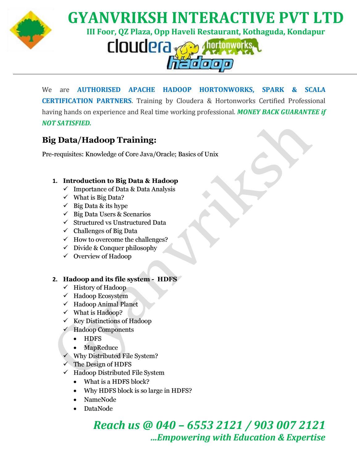 Hadoop Training In Hyderabad By Key Stone Issuu