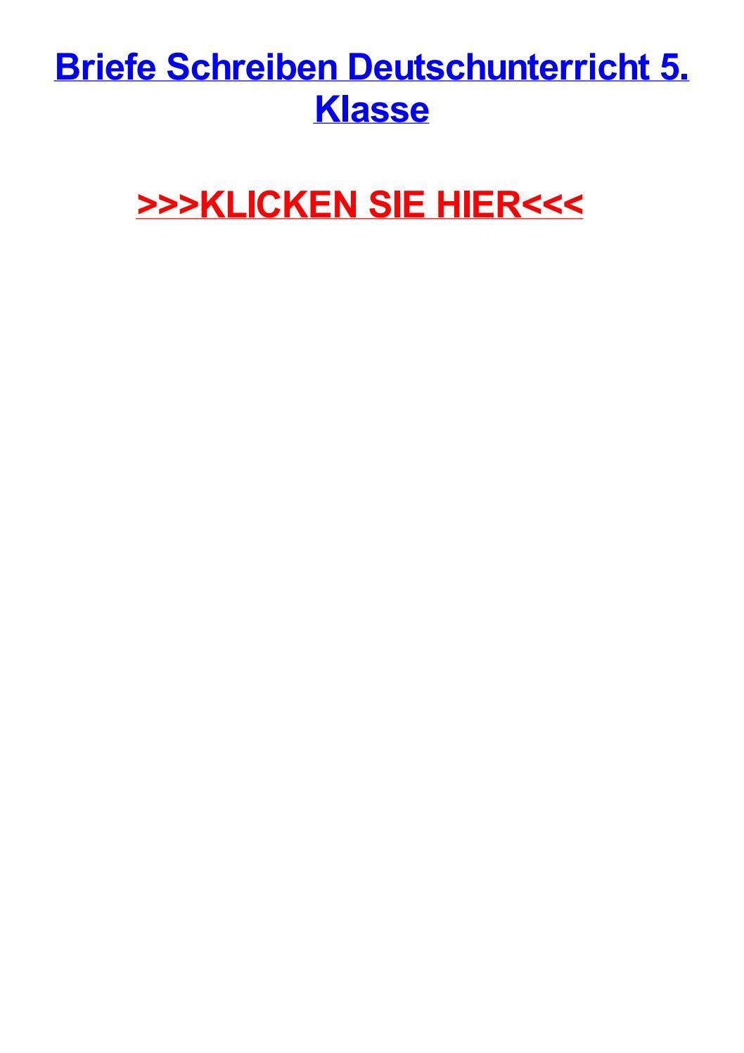 Briefe Schreiben Deutschunterricht 5 Klasse By Jennifersnzn Issuu