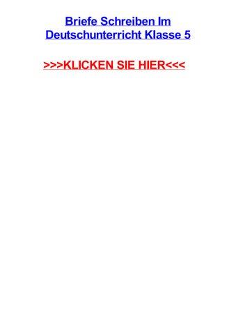 Briefe Schreiben Im Deutschunterricht Klasse 5 By Treborksbt Issuu
