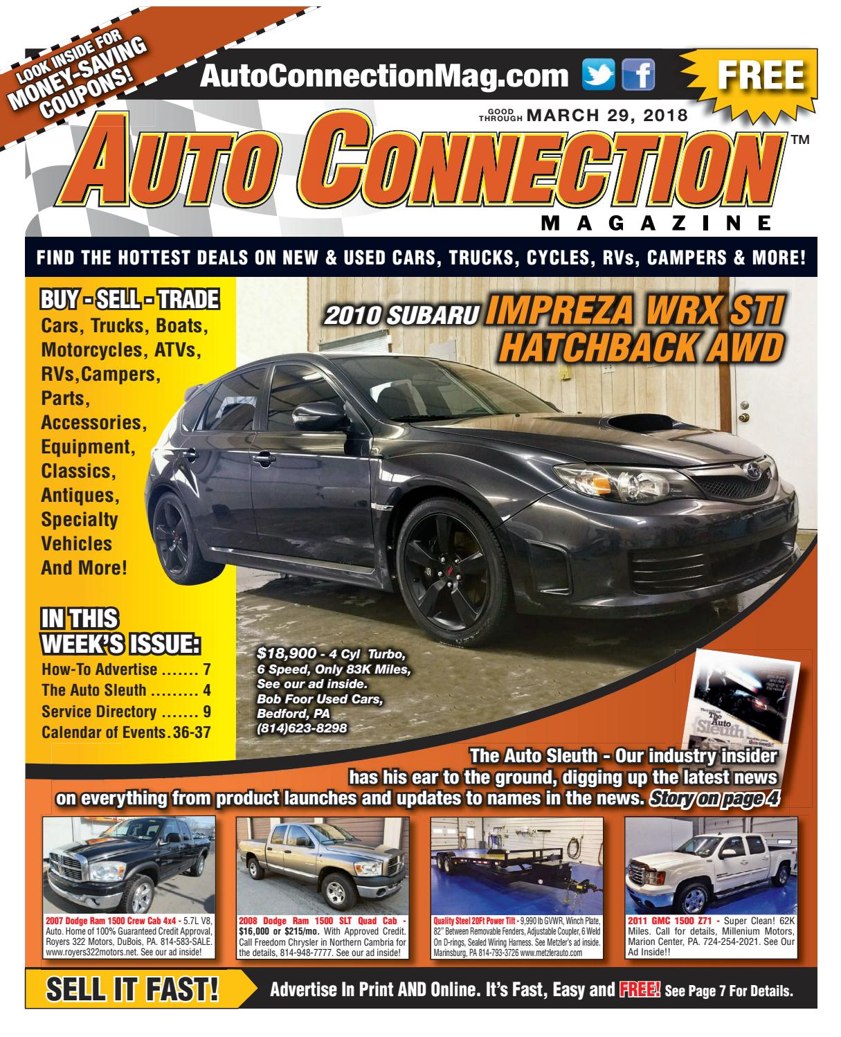 Fabulous 03 29 18 Auto Connection Magazine By Auto Connection Magazine Issuu Wiring Cloud Mangdienstapotheekhoekschewaardnl