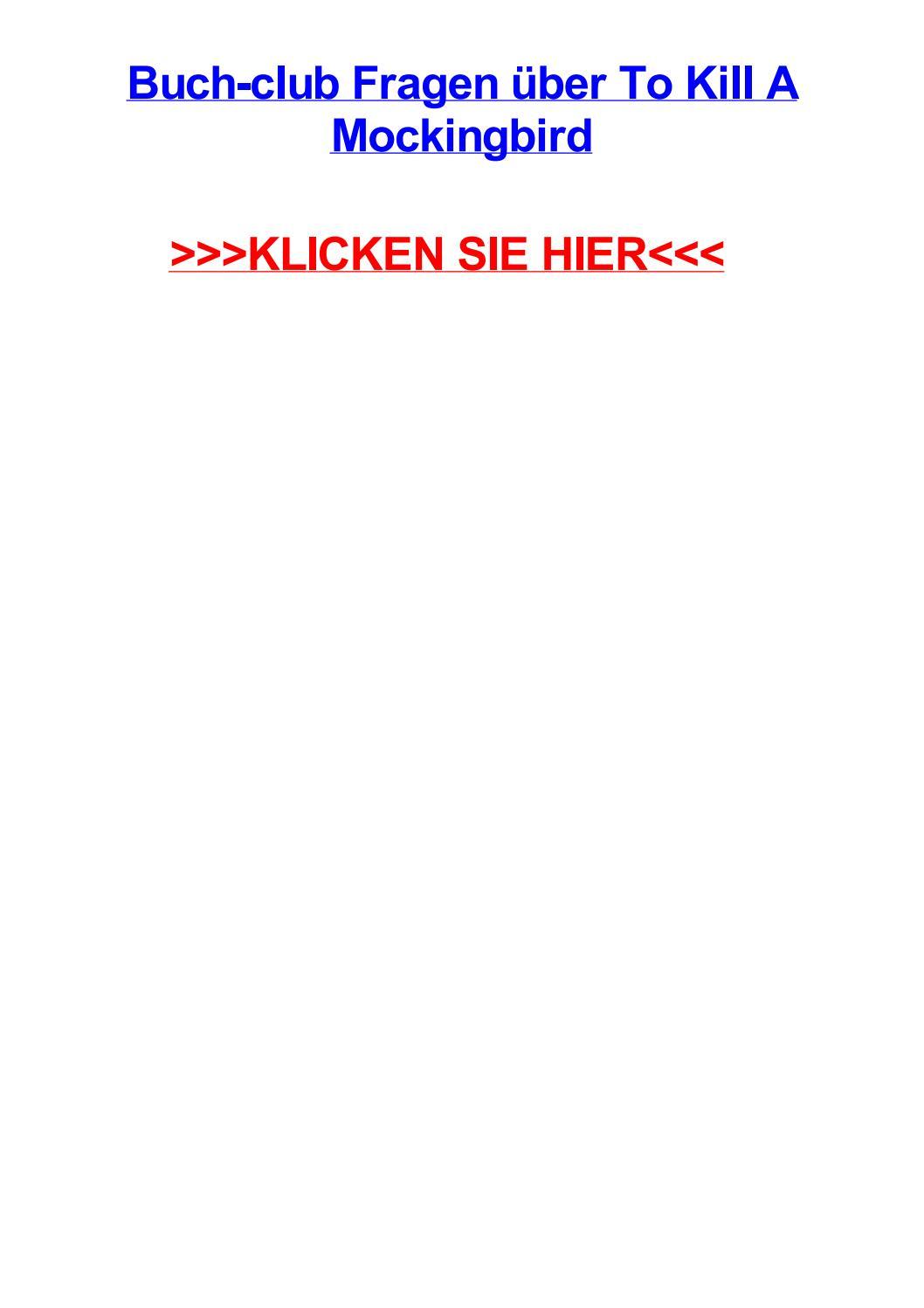 Buch club fragen jber to kill a mockingbird by christopherhivz - issuu