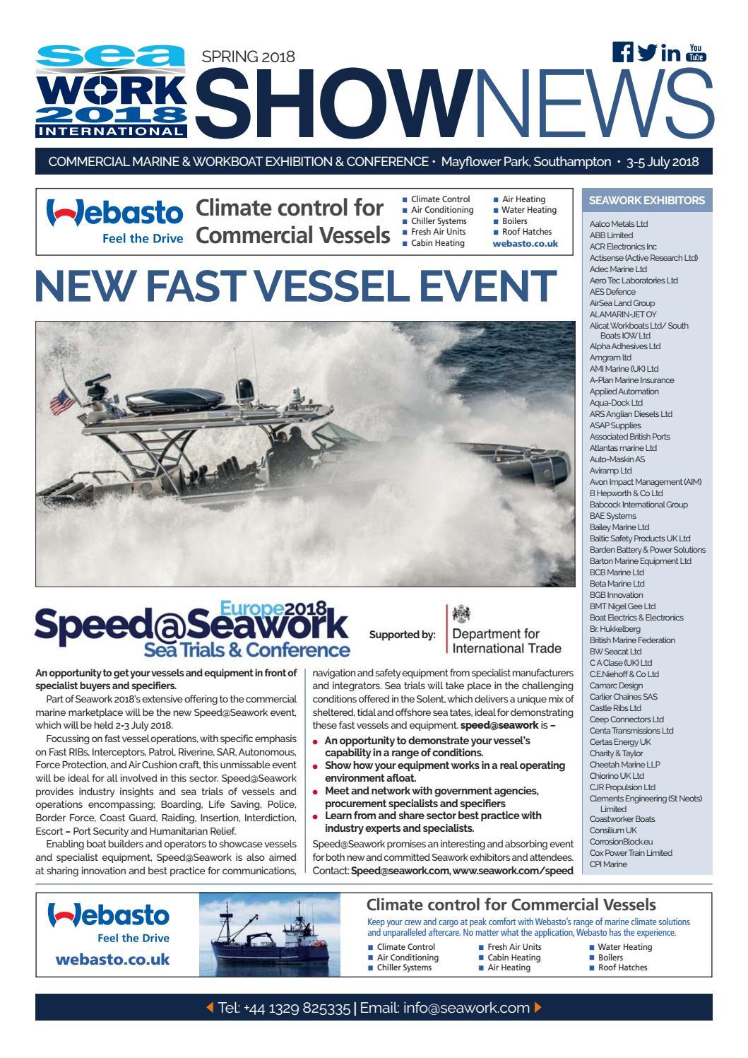 Seawork Shownews 2018 by Mercator Media - issuu