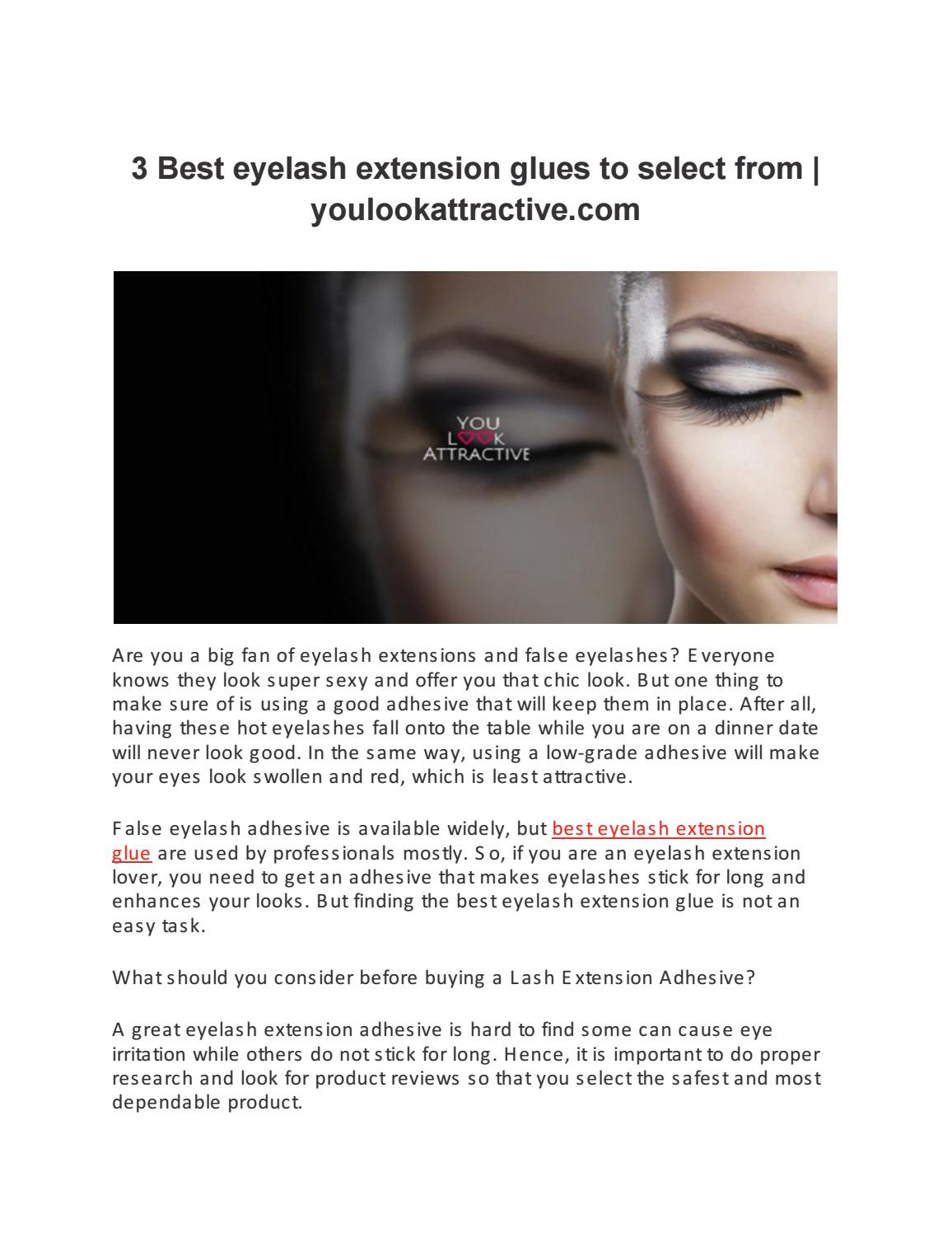 3 Best Eyelash Extension Glues To Select From Youlookattractive Com