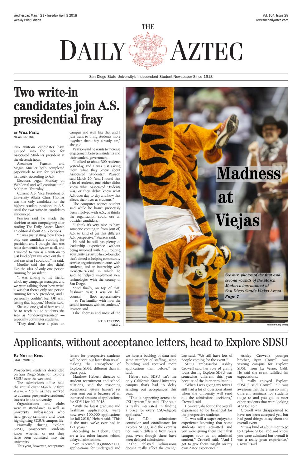 03-21-2018 by The Daily Aztec - issuu