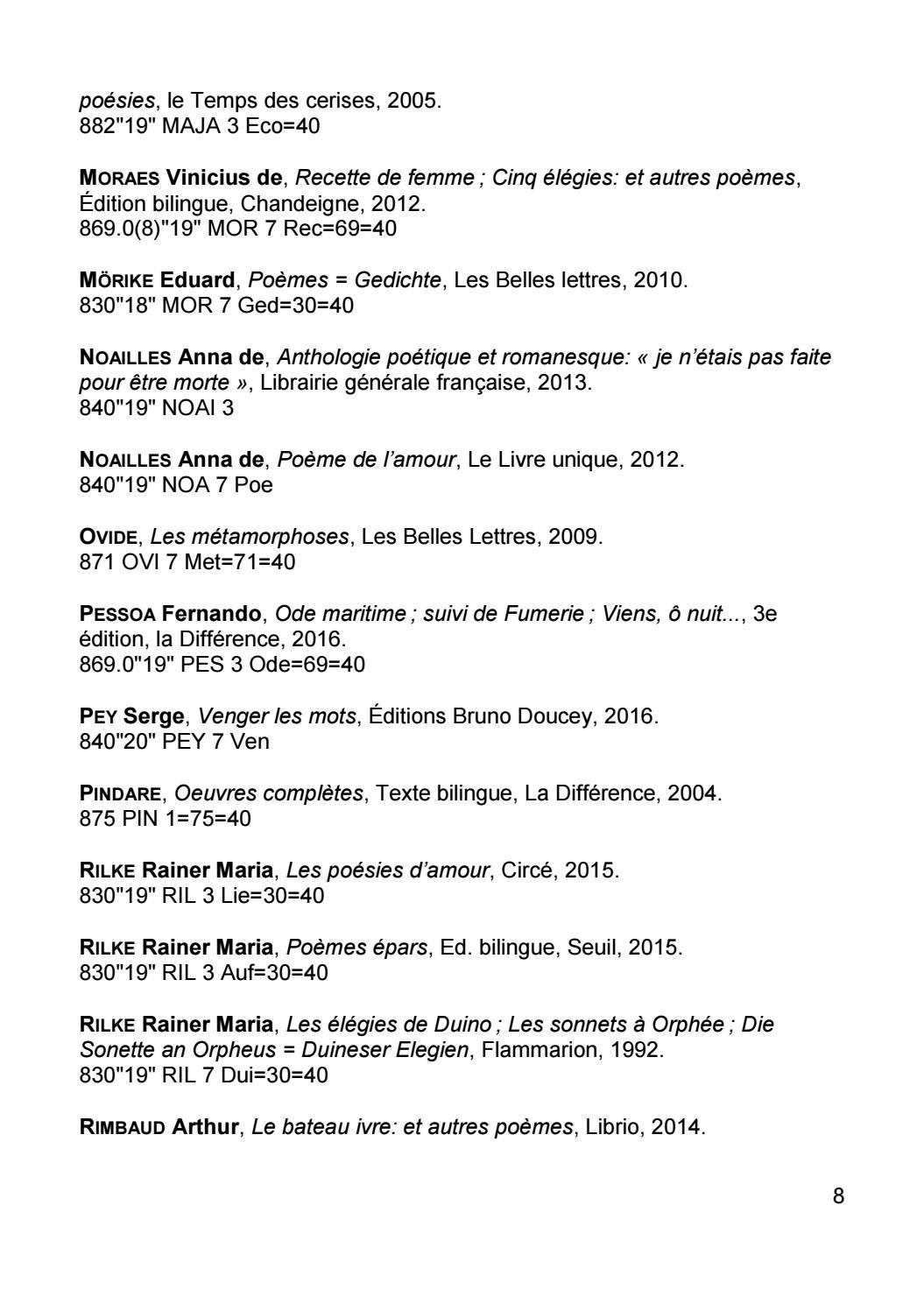 20e Printemps Des Poètes By Bibliothèques De Luniversité