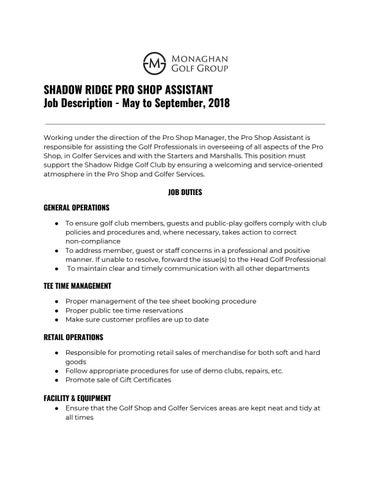 job description shop assistant
