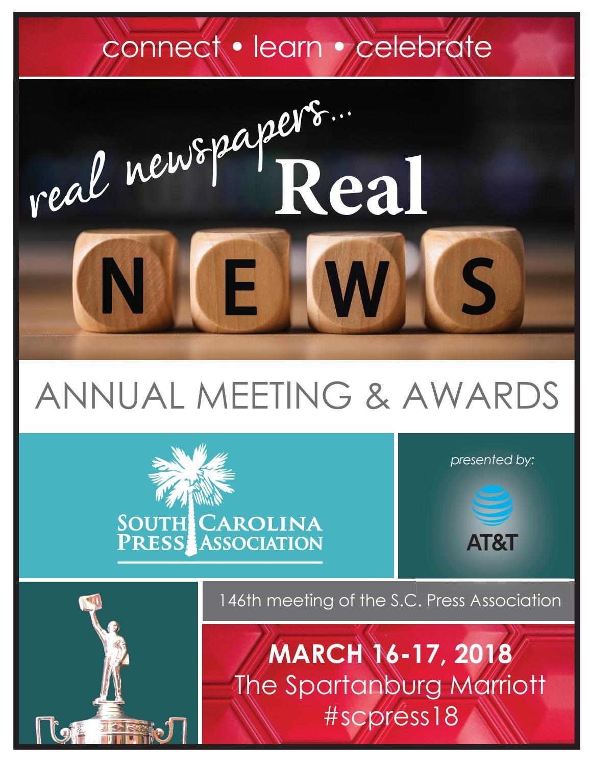 2018 Annual Meeting Awards Program by S.C. Press Association - issuu