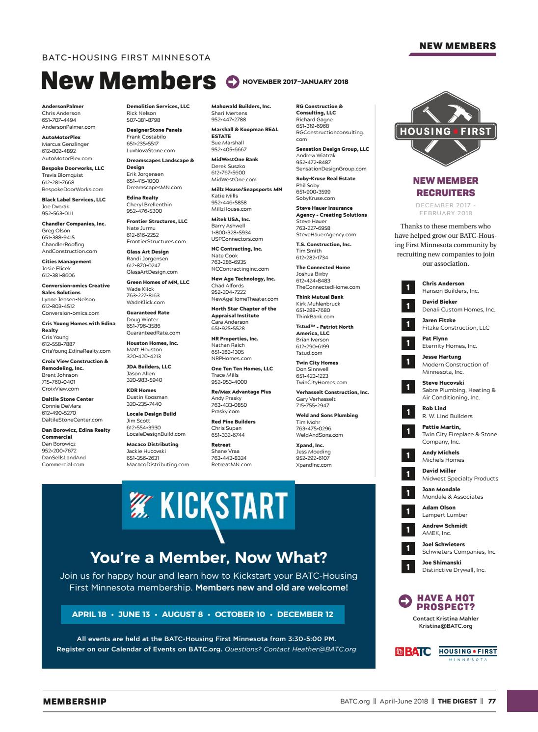 The Digest | April-June 2018 by BATC-Housing First Minnesota - issuu