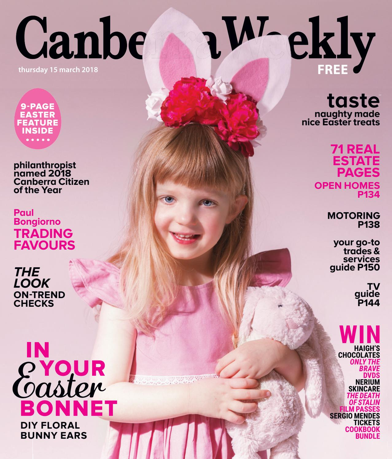 15 March 2018 By Canberra Weekly Magazine Issuu Mooi Printing Premium Sweater Top Garden Bunny S