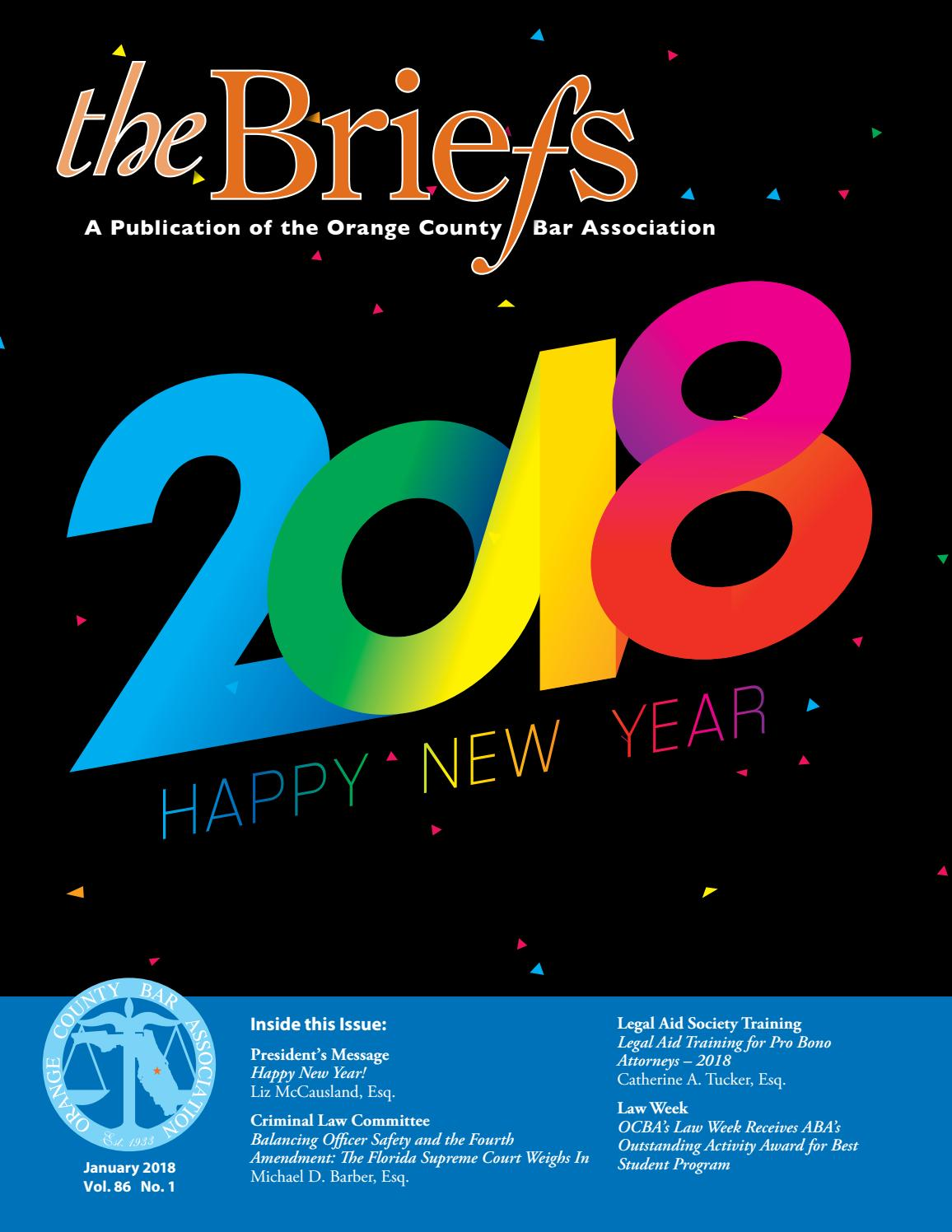 Orange County Bar Association - The Briefs - January 2018 by