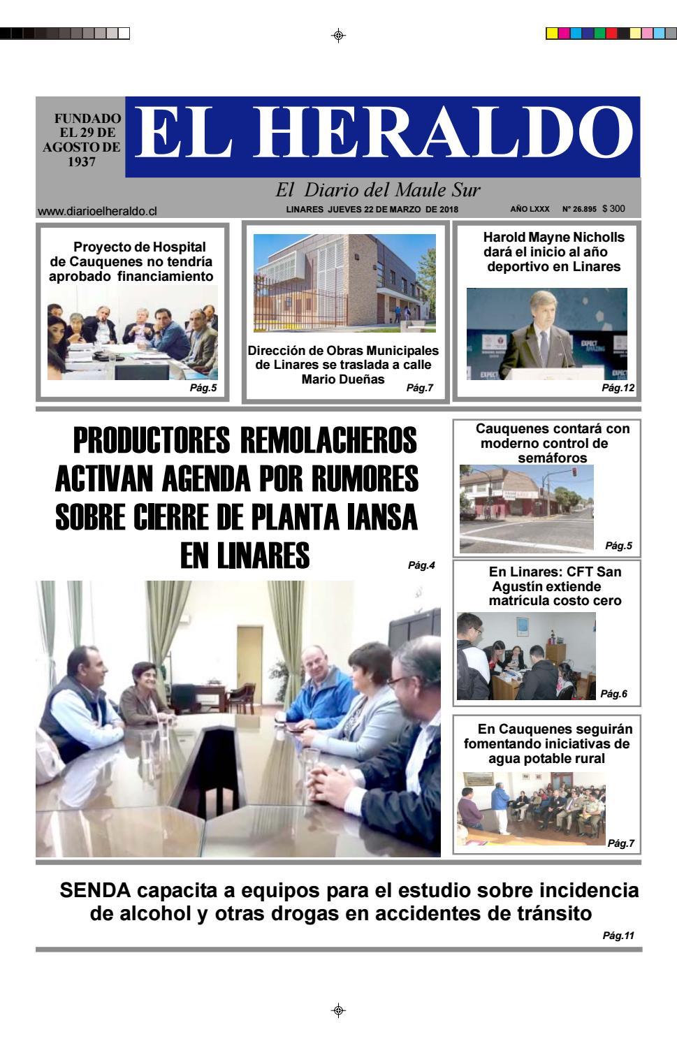 Jueves 22 de marzo 2018 by diario heraldo de linares - issuu