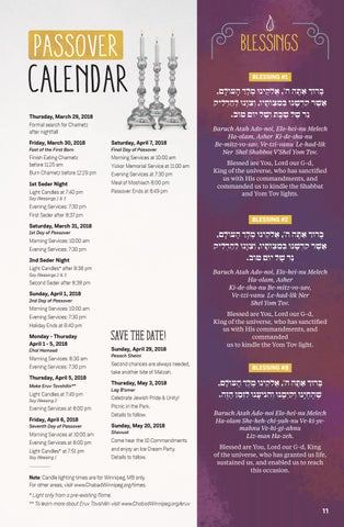 Page 11 of Passover Calendar