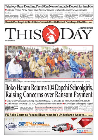 Thursday 22nd march 2018 by thisday newspapers ltd issuu page 1 fandeluxe Choice Image